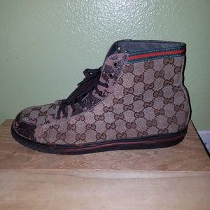 Vintage Single Gucci Print Sneaker
